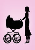 Pram royalty free stock photography