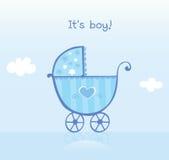 Pram azul para o menino ilustração royalty free