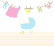 Pram baby Royalty Free Stock Images