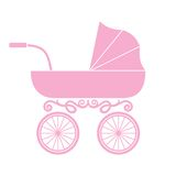Pram - baby carriage. Vector illustration of the pram - baby carriage Royalty Free Stock Photography