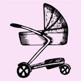 Pram do bebê Imagens de Stock Royalty Free