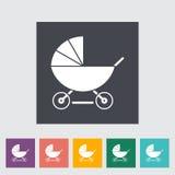 Pram icon Stock Image