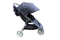 Pram moderno à moda do bebê isolado Fotos de Stock Royalty Free