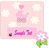 Pram for newborn girl. Vectors illustration Vector Illustration