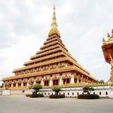 Pramahatat kaen nakrontemplet, Mueang Khon Kaen, Thailand Fotografering för Bildbyråer