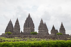 Prambanan寺庙废墟,日惹, Java,印度尼西亚 库存图片