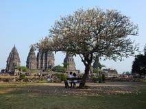prambanan寺庙 免版税图库摄影