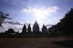 prambanan寺庙 免版税库存照片