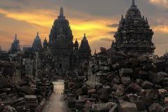 Prambanan świątynia lub Roro Jonggrang świątynia w Indonezja zdjęcie royalty free