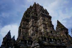 Prambanan świątynia w zakończeniu up obraz royalty free