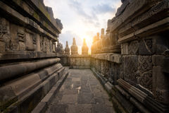 Prambanan Alley at Sunset Royalty Free Stock Images