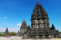 Prambanan, ancient UNESCO Hindu temple Stock Photos