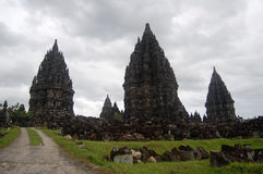 Prambanan buddism temple, Bokoharjo,Jawa ,indonesia. Big Prambanan buddhist temple at Bokoharjo Stock Photo
