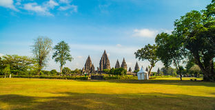 Prambanan or Candi Rara Jonggrang is a Hindu temple compound in Java, Indonesia, dedicated to the Trimurti: the Creator Brahma,. The Preserver Vishnu and the stock photography