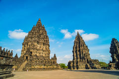 Prambanan or Candi Rara Jonggrang is a Hindu temple compound in Java, Indonesia, dedicated to the Trimurti: the Creator Brahma,. The Preserver Vishnu and the royalty free stock photos