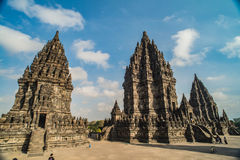 Prambanan or Candi Rara Jonggrang is a Hindu temple compound in Java, Indonesia, dedicated to the Trimurti: the Creator Brahma,. The Preserver Vishnu and the stock images