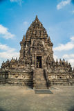 Prambanan or Candi Rara Jonggrang is a Hindu temple compound in Java, Indonesia, dedicated to the Trimurti: the Creator Brahma,. The Preserver Vishnu and the stock image