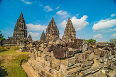 Prambanan or Candi Rara Jonggrang is a Hindu temple compound in Java, Indonesia, dedicated to the Trimurti: the Creator Brahma, Stock Photography