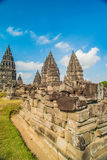 Prambanan or Candi Rara Jonggrang is a Hindu temple compound in Java, Indonesia, dedicated to the Trimurti: the Creator Brahma, Royalty Free Stock Image