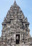Prambanan or Candi Rara Jonggrang is a Hindu temple compound in. Java, Indonesia, dedicated to the Trimurti: the Creator Brahma, the Preserver Vishnu and the Royalty Free Stock Image