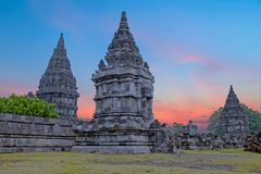 Prambanan or Candi Rara Jonggrang is a Hindu temple on Java Indonesia Stock Photo