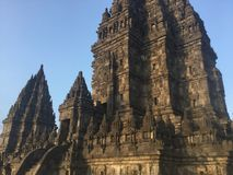 Historical Indonesia. Stone carved .Architecture. Hindu Temple. stock images