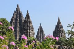 Prambanan, de Prachtige Bestemming van de Tempelreis in Jogja Indonesië royalty-vrije stock foto