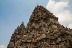 Prambanan Hindu temple, Indonesia. The Prambanan Hindu temple built in 850 is near Yogyakarta in Indonesia Royalty Free Stock Photo