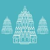 Prambanan Hindu temple Indonesia illustration vector line art Royalty Free Stock Photo