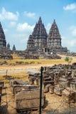 Prambanan Hindu Temple, Yogyakarta, Java Stock Photo