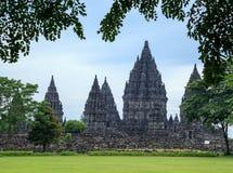 Prambanan. il più grande tempio indù, Java, Indonesia fotografie stock libere da diritti