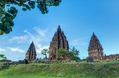 Prambanan Java, Indonesien Royaltyfri Bild
