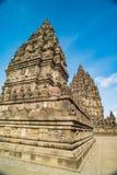 Prambanan o Candi Rara Jonggrang es un compuesto del templo hindú en Java, Indonesia, dedicada al Trimurti: el creador Brahma, Imagen de archivo