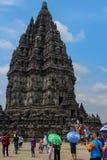 Prambanan o templo del transbordo rodado Jonggrang en Indonesia fotos de archivo
