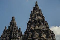 Prambanan op Java Island, Indonesië Royalty-vrije Stock Foto's