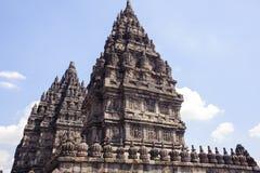 Prambanan op Java Island, Indonesië Stock Afbeelding