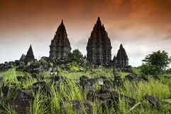 Prambanan ruins Royalty Free Stock Photos