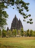 prambanan tempel royaltyfri fotografi