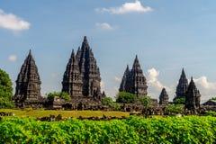 prambanan tempel Arkivfoto