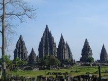 prambanan tempel Arkivbild