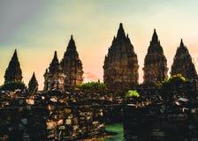 prambanan tempel Arkivfoton