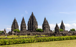 Prambanan tempel, Yogyakarta, Java, Indonesien Arkivbilder