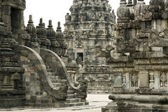 Prambanan temple architecture java Stock Photo