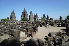 Prambanan Temple. At central java Sleman Yogyakarta Stock Photography