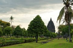 Prambanan Temple Compounds. Prambanan is a 9th-century Hindu temple compound in Central Java, Indonesia, dedicated to the Trimurti, the expression of God as the royalty free stock photography