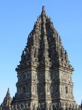 Prambanan Temple Compounds in Yogyakarta. Yogyakarta, Indonesia - October 31, 2018: Prambanan Temple Compounds, built in the 9th century, is the largest temple stock photography