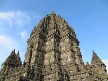 Prambanan Temple Compounds in Yogyakarta. Yogyakarta, Indonesia - October 31, 2018: Prambanan Temple Compounds, built in the 9th century, is the largest temple royalty free stock image