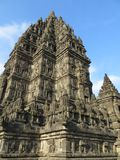 Prambanan Temple Compounds in Yogyakarta. Yogyakarta, Indonesia - October 31, 2018: Prambanan Temple Compounds, built in the 9th century, is the largest temple stock images