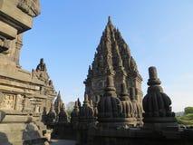 Prambanan Temple Compounds in Yogyakarta. Yogyakarta, Indonesia - October 31, 2018: Relief sculptures on the wall of Prambanan Temple royalty free stock photography