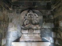 Prambanan Temple Compounds in Yogyakarta. Yogyakarta, Indonesia - October 31, 2018: Statue of Ganesha, the Hindu god of wisdom and learning, at the Prambanan stock photos